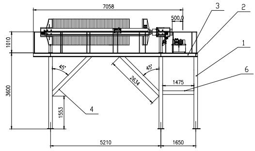 壓濾機平臺結構圖