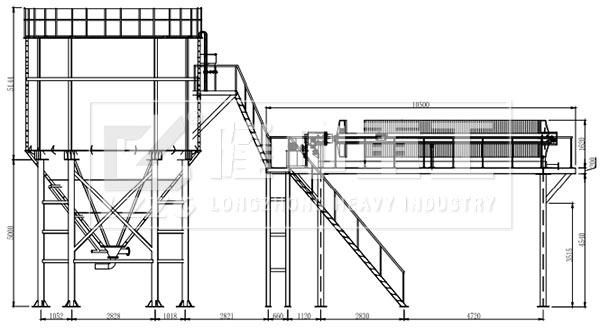 压滤车间及三氢净化体A向视图