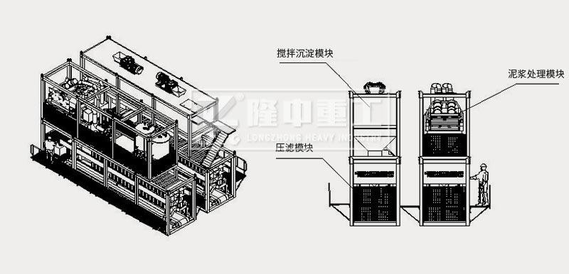 模塊化打樁泥漿處理設備結構