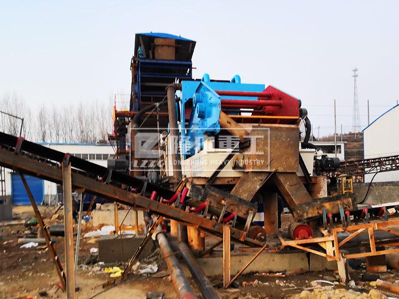 洗砂回收一体机安装完毕