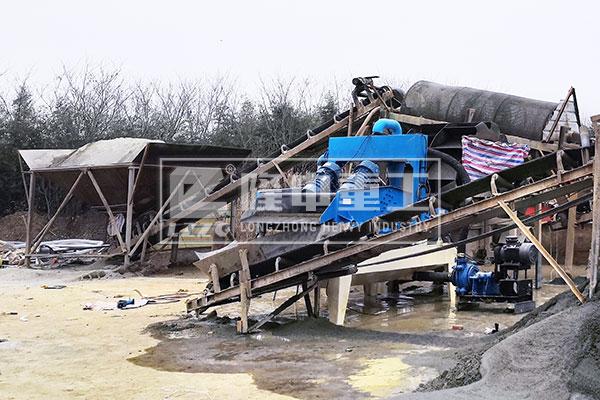 安徽六安脱水型细沙回收机调试运行现场–洗沙设备展示